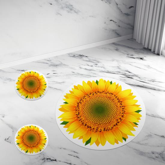 Evperest Summer Banyo Paspas Seti Sunflower Model